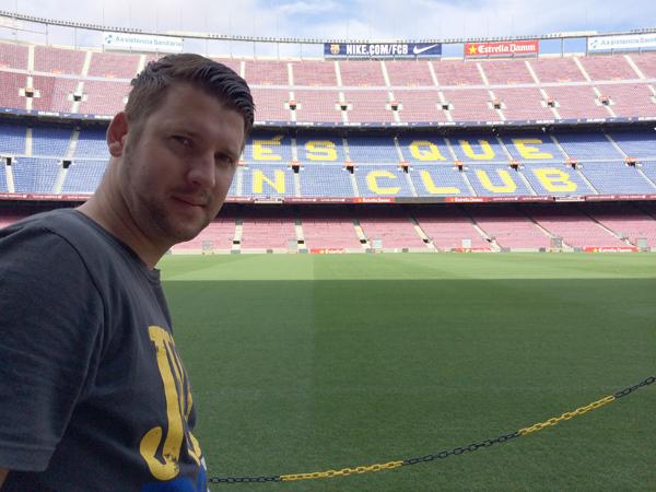 Benjamin Plötz im Camp Nou